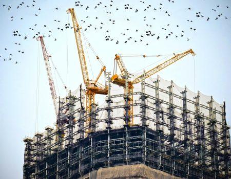 Secteur BTP - immeuble en construction